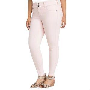 Torrid Pink Denim Skinny Jeans Women's 14R